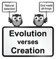 Evolution verses Creation vector image vector image