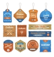 Exclusive Clothing Labels Set vector image