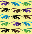 Eyes background vector image