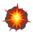 fire explosion icon isolated vector image vector image
