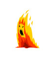 fire monster cartoon character fantasy creature vector image vector image
