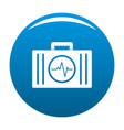 first aid kit icon blue vector image vector image