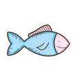 fish animal isolated icon vector image