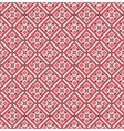 Geometric pattern of red rhombus vector image vector image