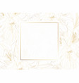 golden greeting invitation card template design vector image vector image