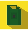 Green jerrycan oil flat icon vector image vector image