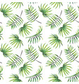 green leaves seamless pattern white background vector image vector image