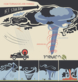 how tornadoes are farmed vector image