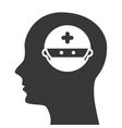 human profile healthcare icon vector image
