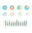 infographic data graphs financial and vector image