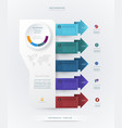 infographics timeline design vector image vector image