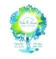 Invitation with watercolor tree vector image