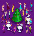 isometric celebration of christmas 3d dancing vector image vector image