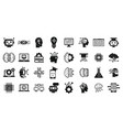 machine learning data icons set simple style vector image vector image