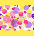 memphis seamless pattern pop art dotted and vector image vector image