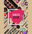 modern cosmetics accessories concept vector image vector image