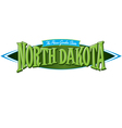 North Dakota The Peace Garden State vector image vector image