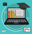 on line education concept vector image vector image