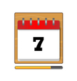 On the seventh day in the calendar vector image