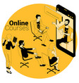 online courses education training concept vector image vector image