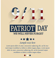 Patriots day vector image vector image