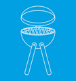 picnic cooking barbecue device icon outline style vector image vector image