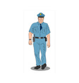 Policeman Police Officer Walking vector image vector image