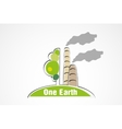 pollution of nature concept of ecology vector image