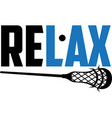 relax on white background vector image vector image