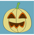 retro pumpkin vector image