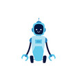 robot futuristic technology creature flat vector image