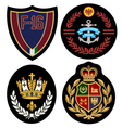 Royal badge design set vector | Price: 3 Credits (USD $3)