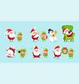 santa elf cartoon characters advertisement posters vector image vector image