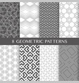 seamless linear textures pack 1 vector image vector image