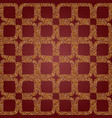 seamless luxury golden patterns from the square vector image vector image