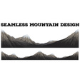 Seamless mountain with snow peak vector image vector image