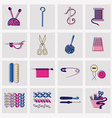 Sewing and needlework icons vector image vector image