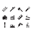 Silhouette Woodworking industry vector image vector image