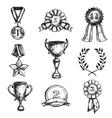 Sketch Medal Design Icon Set vector image vector image
