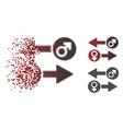sparkle dot halftone gender exchange icon vector image vector image