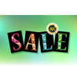 spring sale template designed vector image vector image