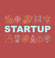 startup word concepts banner vector image vector image