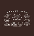 stock set of fast food icons and elements vector image vector image