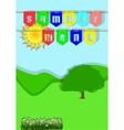 summer menu vector image vector image
