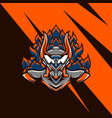 taurus armored mascot vector image vector image