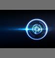 technological futuristic intelligent sparkling vector image vector image
