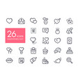 valentine day set icons vector image vector image