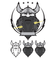 Viking head mascot vector image