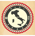 Vintage label-sticker cards of Italy vector image