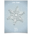 White 3D stylised snowflake vector image